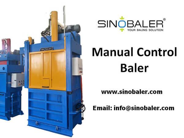 Manual Control Baler Machine