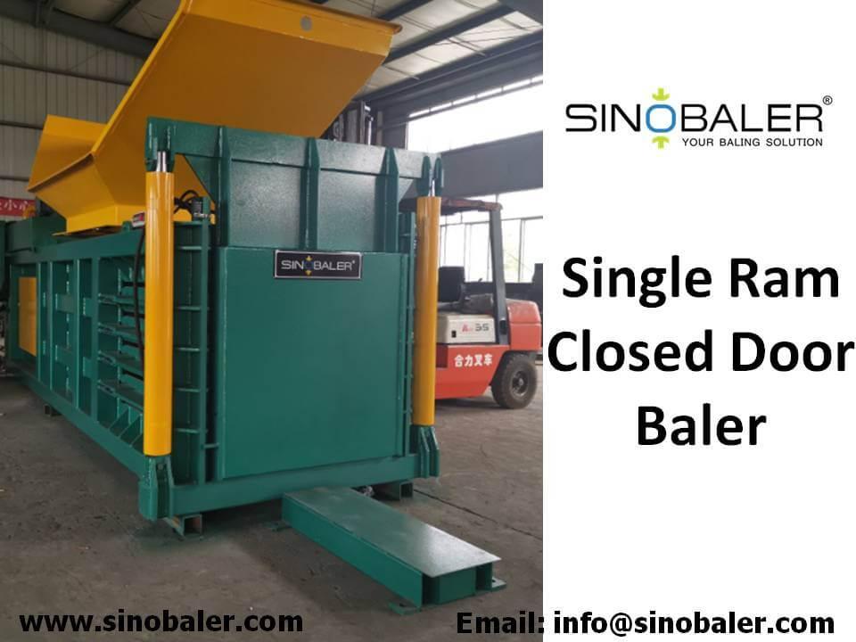 Single Ram Closed Door Baler Machine