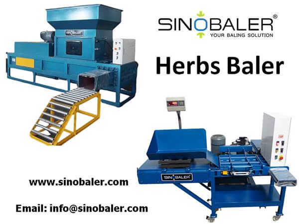 Herbs Baler Machine