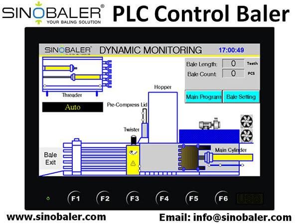 PLC Control Baler Machine
