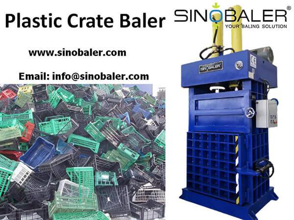 Plastic Crate Baler Machine