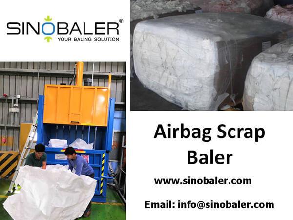 Airbag Scrap Baler Machine