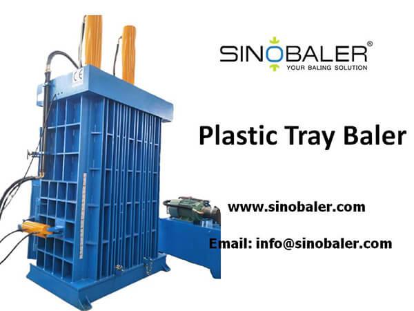 Plastic Tray Baler Machine