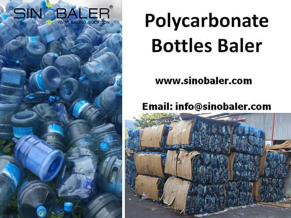 Polycarbonate Bottles Baler Machine