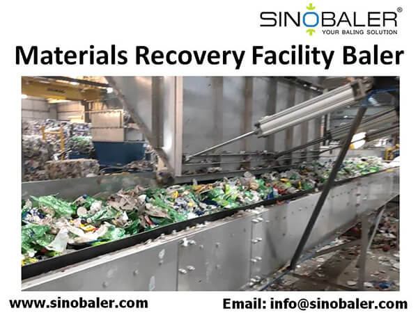 Material Recovery Facility Baler Machine