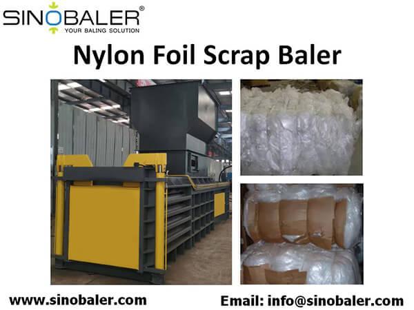 Nylon Foil Scrap Baler Machine
