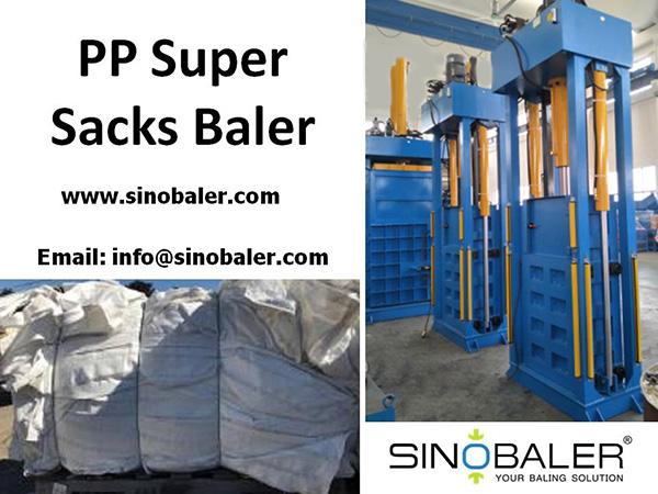 PP Super Sacks Baler Machine
