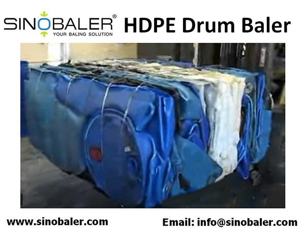 HDPE Drum Baler Machine