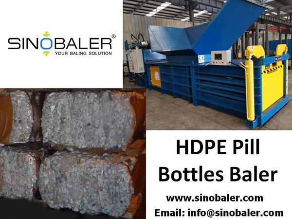 HDPE Pill Bottles Baler Machine