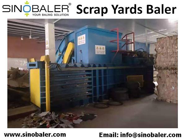 Scrap Yards Baler Machine