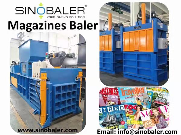 Magazines Baler Machine