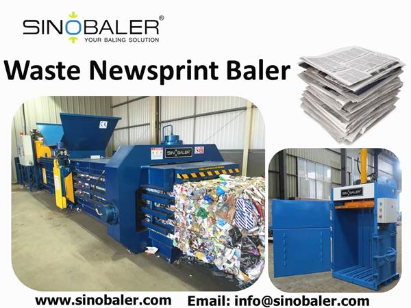 Waste Newsprint Baler Machine