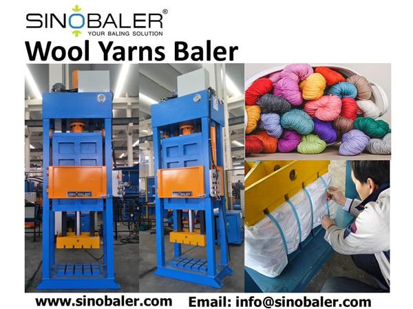 Wool Yarns Baler Machine
