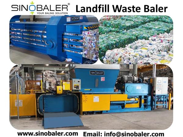 Landfill Waste Baler Machine