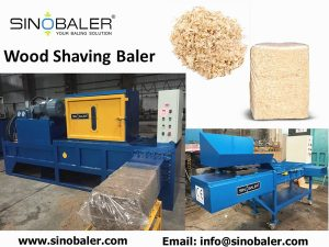 display what does a wood shaving baler look like