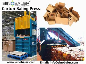 show the typical types of carton baling press