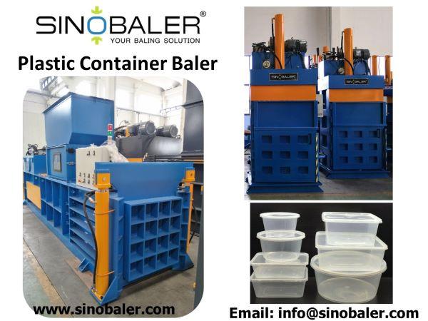 Plastic Container Baler Machine