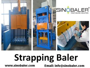 Strapping Baler Machine, Strapping Type Baling Press Machine For Sale