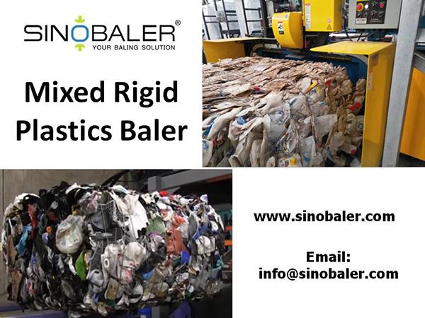 Mixed Rigid Plastics Baler Machine