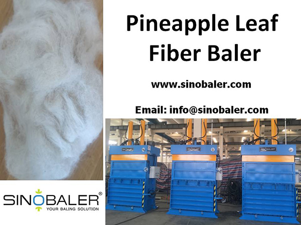 Pineapple Leaf Fiber Baler Machine