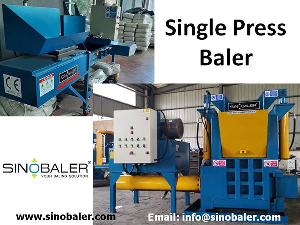 Single Press Baling Machine