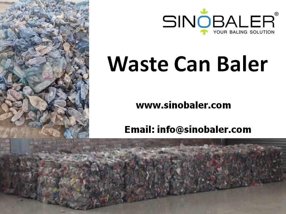 Waste Can Baler Machine