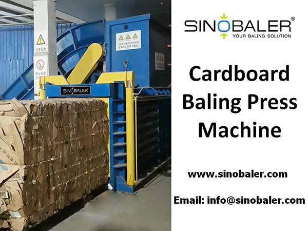Cardboard Baling Press Machine