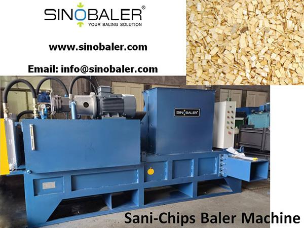Sani-chips Baler Machine