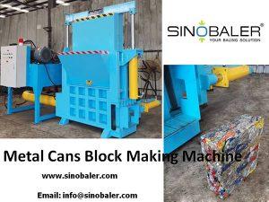 Metal Can Block Making Machine, Metal Can Blocking Machine - Sinobaler